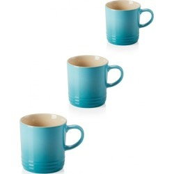 Le Creuset Set Of 3 Stoneware 350ml Mugs Teal found on Bargain Bro UK from Harvey Nichols