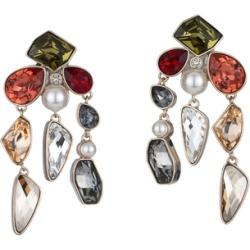 Atelier Swarovski Mosaic Drop Clip Earrings found on MODAPINS from Harvey Nichols for USD $411.21
