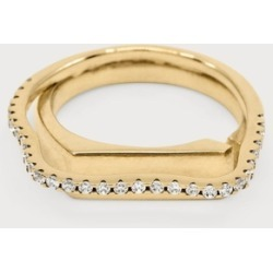 Cornelia Webb Distorted Signet Ring S Gold found on MODAPINS from Harvey Nichols for USD $368.18