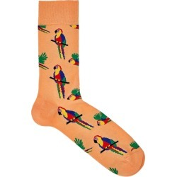 Happy Socks Parrot Peach Cotton-blend Socks found on MODAPINS from Harvey Nichols for USD $12.88