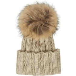 Inverni Cortina Stone Pompom Cashmere Beanie found on MODAPINS from Harvey Nichols for USD $323.21
