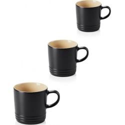 Le Creuset Set Of 3 Stoneware 350ml Mugs Satin Black found on Bargain Bro UK from Harvey Nichols