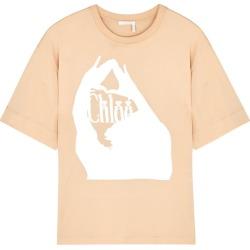 Chloé Blush Printed Cotton T-shirt found on Bargain Bro UK from Harvey Nichols