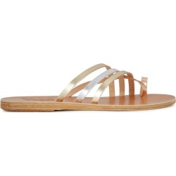 Ancient Greek Sandals Amalia Metallic Leather Sandals found on MODAPINS from Harvey Nichols for USD $169.78