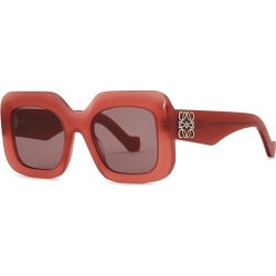 Loewe Red Square-frame Sunglasses found on MODAPINS from Harvey Nichols for USD $335.83