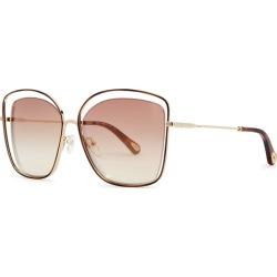Chloé Poppy Cut-out Oversized Sunglasses found on Bargain Bro UK from Harvey Nichols