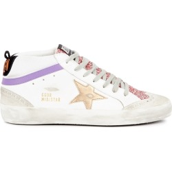 Golden Goose Deluxe Brand Mid Star White Distressed Leather Sneakers found on Bargain Bro UK from Harvey Nichols