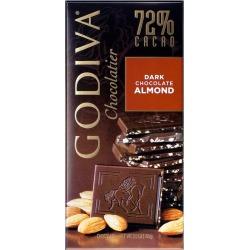 GODIVA 72% Cacao Dark Chocolate Almond Tablet 100g found on Bargain Bro UK from Harvey Nichols