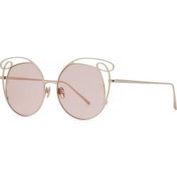 Linda Farrow Luxe 852 C5 Zazel Cat-eye Sunglasses found on MODAPINS from Harvey Nichols for USD $925.89