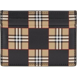 Burberry Sandon Checked Leather Card Holder found on MODAPINS from Harvey Nichols for USD $239.46