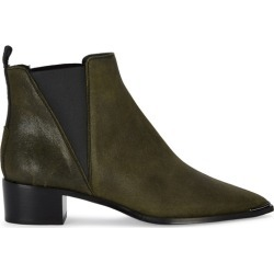 Acne Studios Jensen Army Green Suede Ankle Boots found on MODAPINS from Harvey Nichols for USD $532.36