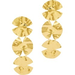 Anissa Kermiche Trio Architect 18kt Gold-plated Drop Earrings found on MODAPINS from Harvey Nichols for USD $329.03