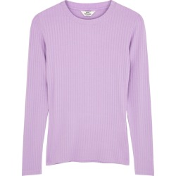 Mads Nørgaard Tuba Lilac Ribbed Stretch-jersey Top found on Bargain Bro UK from Harvey Nichols