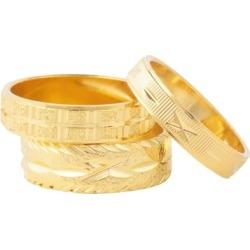 Susan Caplan Vintage 1990s Vintage Gold Ring Set Of Three