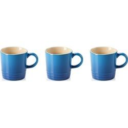 Le Creuset Set Of 3 Stoneware Espresso Mugs Marseille Blue found on Bargain Bro UK from Harvey Nichols