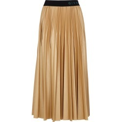 Givenchy Camel Pleated Coated Jersey Midi Skirt found on MODAPINS from Harvey Nichols for USD $1383.56