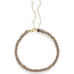 The Alkemistry 18ct Gold Kumachi Bracelet With Grey Silk Cord found on Bargain Bro UK from Harvey Nichols