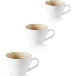 Le Creuset Set Of 3 Stoneware Grand Mugs Cotton found on Bargain Bro UK from Harvey Nichols