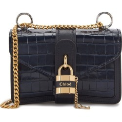 Chloé Aby Mini Navy Leather Shoulder Bag found on Bargain Bro UK from Harvey Nichols