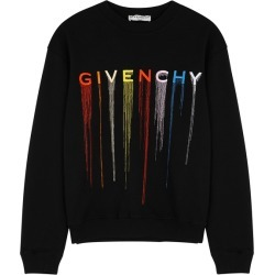 Givenchy Black Logo-embroidered Cotton Sweatshirt found on MODAPINS from Harvey Nichols for USD $751.64