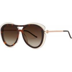 Elie Saab Tortoiseshell Aviator-style Sunglasses found on MODAPINS from Harvey Nichols for USD $340.90