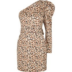 Lavish Alice Leopard-print One-shoulder Satin Mini Dress found on MODAPINS from Harvey Nichols for USD $90.52
