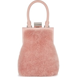 PERRIN PARIS Le Miniaudiere Blush Shearling Top Handle Bag found on Bargain Bro UK from Harvey Nichols