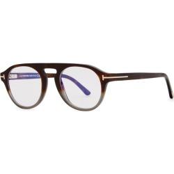 Tom Ford Eyewear Brown Dégradé Oval-frame Optical Glasses found on Bargain Bro UK from Harvey Nichols