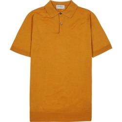 John Smedley Payton Marigold Merino Wool Polo Shirt found on MODAPINS from Harvey Nichols for USD $180.83