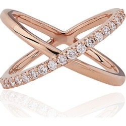 Alinka Jewellery Katia Single Crossover Ring Rose Gold found on MODAPINS from Harvey Nichols for USD $3335.51