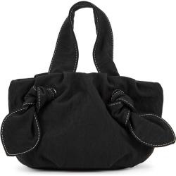 STAUD Ronnie Black Satin Top Handle Bag found on Bargain Bro UK from Harvey Nichols