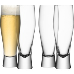 LSA International Bar Lager Glass 400ml Clear X 4 found on Bargain Bro UK from Harvey Nichols