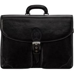 Maxwell Scott Bags Maxwell Scott Mens Handmade Leather Briefcase - Tomacelli Black found on Bargain Bro UK from Harvey Nichols