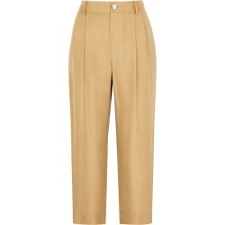 Vince Gold Tapered-leg Satin Trousers