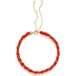 The Alkemistry 18ct Gold Kumachi Bracelet With Coral Silk Cord found on Bargain Bro UK from Harvey Nichols
