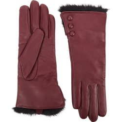 Dents Sophie Burgundy Fur-trimmed Leather Gloves found on Bargain Bro UK from Harvey Nichols