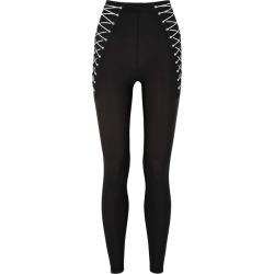 Adam Selman Sport Lace-Up Black Stretch-nylon Leggings found on MODAPINS from Harvey Nichols for USD $204.47