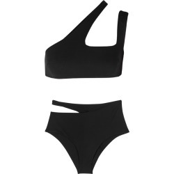 Off-White Black One-shoulder Bikini found on MODAPINS from Harvey Nichols for USD $400.27