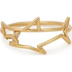 Aliita Tiburon Brillante 9kt Yellow Gold Ring found on MODAPINS from Harvey Nichols for USD $324.72