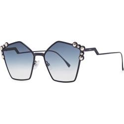 Fendi Blue Pentagon-frame Sunglasses found on Bargain Bro UK from Harvey Nichols