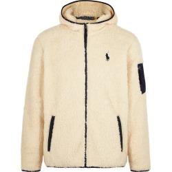 Cream faux shearling jacket
