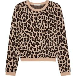 Alice + Olivia Connie Leopard Stretch-wool Jumper found on Bargain Bro UK from Harvey Nichols