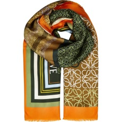 Loewe Logo-print Silk Twill Scarf found on MODAPINS from Harvey Nichols for USD $580.65
