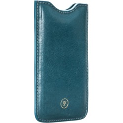 Maxwell Scott Bags Handcrafted Petrol Leather Iphone Cover found on Bargain Bro UK from Harvey Nichols