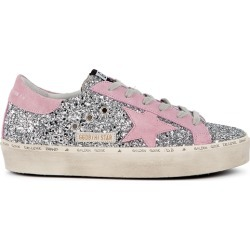 Golden Goose Deluxe Brand Hi Star Silver Glittered Flatform Sneakers found on Bargain Bro UK from Harvey Nichols