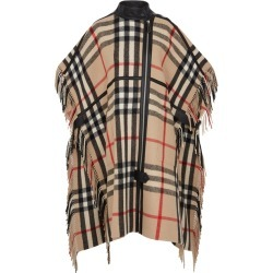 Burberry Knipton Checked Wool-blend Cape