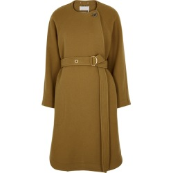 Chloé Brown Belted Wool-blend Coat found on Bargain Bro UK from Harvey Nichols