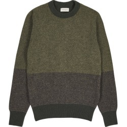 Oliver Spencer Blenheim Colour-blocked Wool Jumper found on MODAPINS from Harvey Nichols for USD $253.82