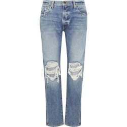 Khaite Kyle Distressed Straight-leg Jeans found on MODAPINS from Harvey Nichols for USD $443.22