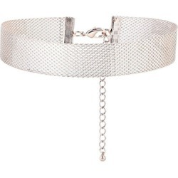 Alinka Jewellery Silhoutte Mesh Choker White Gold found on MODAPINS from Harvey Nichols for USD $9045.23